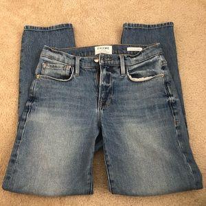 Frame le nouveau straight leg jeans light wash